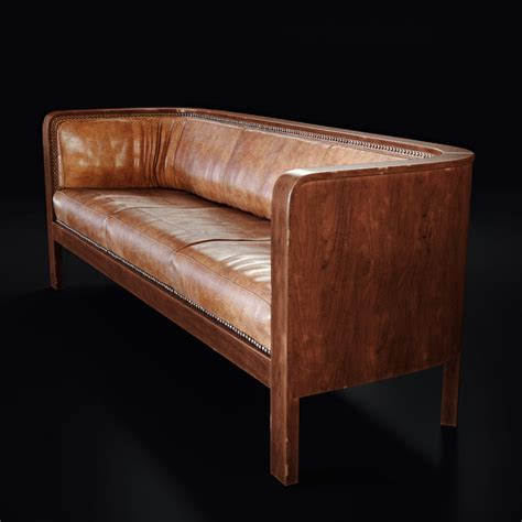 leather sofa wooden frame 3d product rendering of jacob kjaer leather sofa lunas