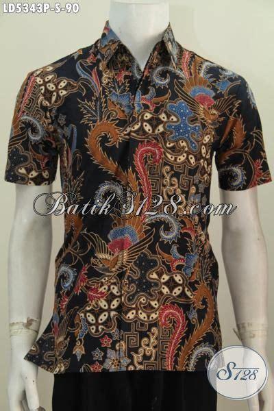 desain baju batik pria elegan hem batik halus dengan desain motif mewah proses printing