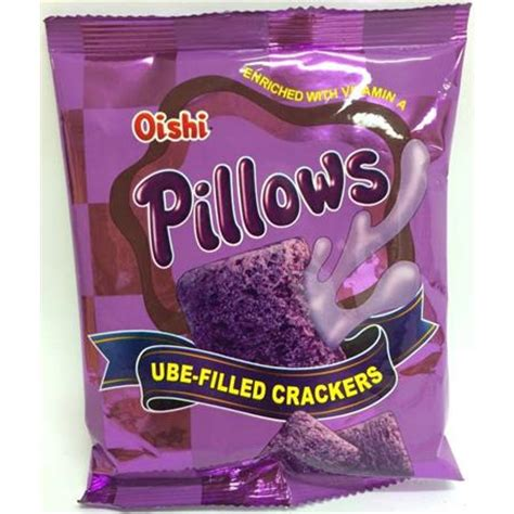 Oishi Pillows oishi pillows ube filled crackers 38g from buy food 4u