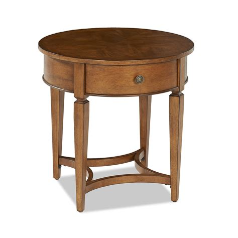 round accent table with drawer wentworth round end table with 1 drawer ruby gordon