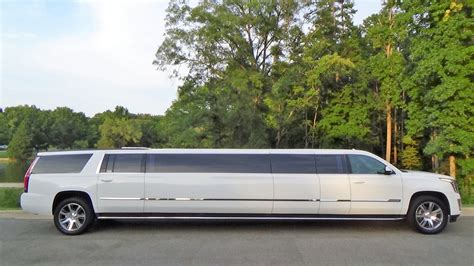 White Limo by 2018 White Cadillac Escalade 180 Five Limousine