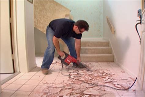 How To Remove Ceramic Tile From Concrete Floor by How To Install Tile Flooring How Tos Diy