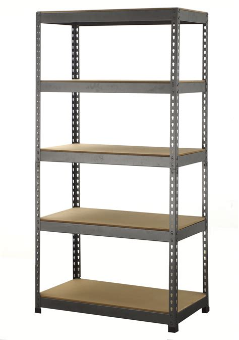 Shelf Storage by 5 Tier Boltless Industrial Racking Garage Shelving Storage
