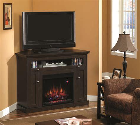 Corner Fireplace Tv Stand Entertainment Center by 46 25 Oak Espresso Entertainment Center Electric