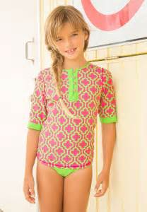 Swimsuit spf protective rashguard sets for girls girls spf swimsuits