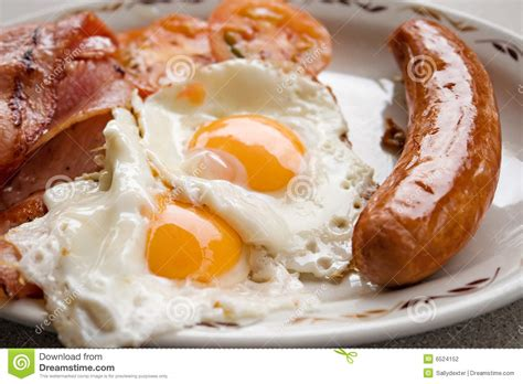 Bacon egg sausage breakfast stock photography image 6524152