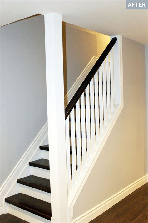 partial open staircase basement staircase after how great the color combination turned