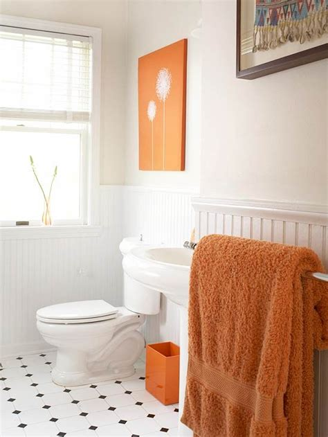 orange bathtub 31 cool orange bathroom design ideas digsdigs