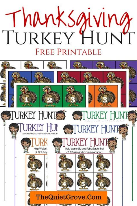 printable turkey hunt 17 best images about homeschool holiday special day