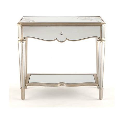 console table in bedroom classic mirror bedside table with glass top and open shelf