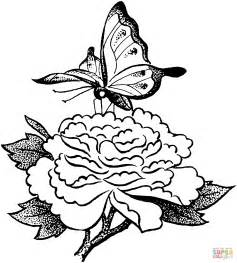 butterfly on a flower coloring online