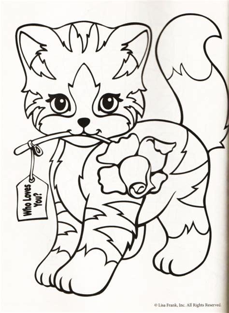 lisa frank cat coloring pages color me