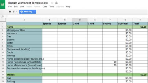 7 More Useful Excel Sheets To Instantly Improve Your Family S Budget Sheets Finance Template