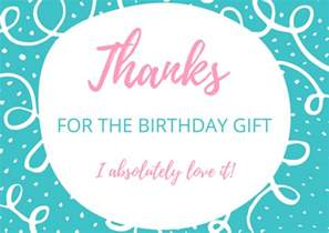 thank you card wording for birthday gift free birthday thank you card printables