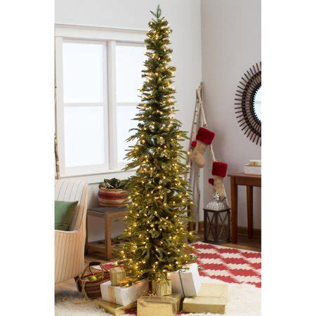 walmart pencil christmas trees artificial bixley pencil pre lit tree walmart