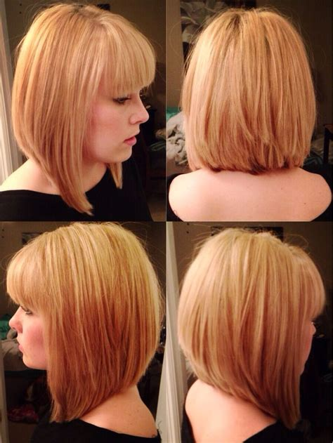 long bob angled hairstyles graduated layers graduated bob hairstyles with bangs hairstyles