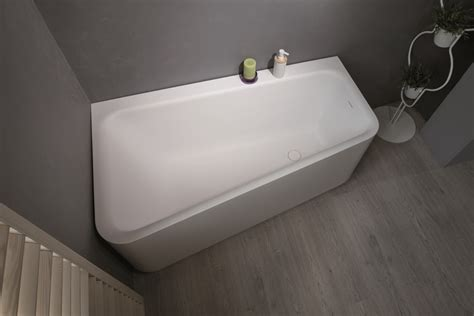 bathtub corner aquatica jane wht solid surface corner bathtub