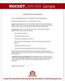 Certification Document Template by Certificate Of Trust Inter Vivos Certification Rocket
