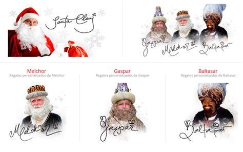 imagenes de los reyes magos y santa clos regalos dedicados y firmados por papa noel y los reyes magos