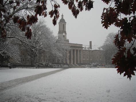 snow blankets the university park cus penn state university old main pennstate university by praetorian86 on deviantart