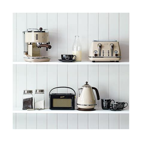 delonghi icona vintage kettle toaster set cream