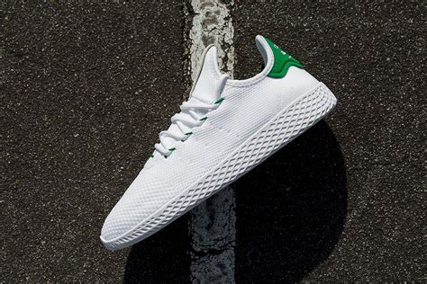 adidas pharel william putih pharrell williams x adidas tennis hu white green