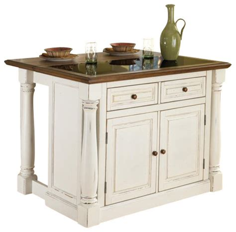 kitchen islands and trolleys home styles monarch kitchen island with granite top and