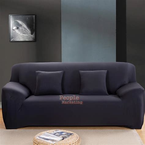 Sofa With Washable Covers Micro Suede Slipcover Stretchable Color Sofa Loveseat