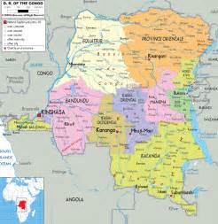detailed political map of democratic republic of congo
