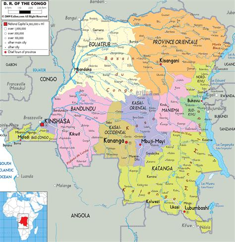 political map of republic democratic republic of congo la r 233 publique d 233 mocratique