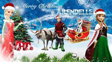 film frozen holiday frozen 1920x1080 merry christmas arendelle 2 by