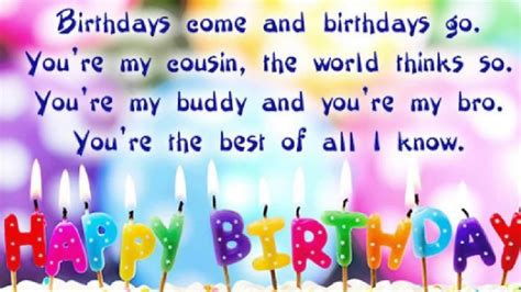 Birthday Quotes For A Cousin Happy Birthday Cousin Quotes Birthday Cuz Wishes Images