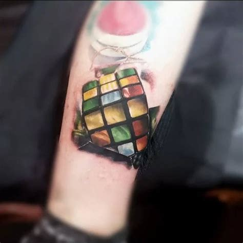 cube tattoo rubik s cube best ideas designs