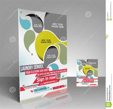 flyer template laundry laundry service flyer stock vector image 41889148
