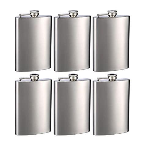 Top Shelf Flasks by Top Shelf Flasks Stainless Steel Hip Flasks 8 Oz Set Of 6