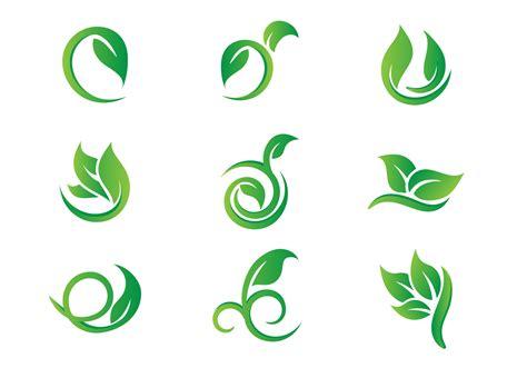 logo vector leaf hojas logo vectors free vector stock