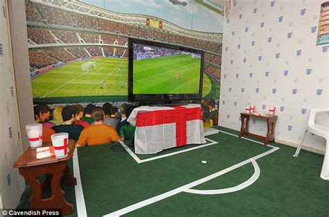 Football Room by Football S Coming Home Fan Creates World Cup Stadium In