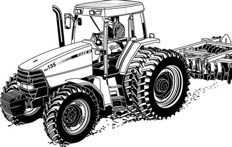 realistic tractor coloring pages printable tractor