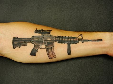 machine gun tattoo gun tattoos a mind blowing collection among fashion