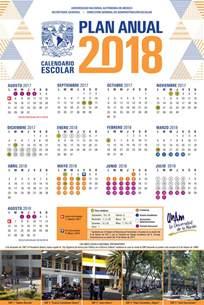 Calendario 2018 Unam Calendarios Escolares Unam