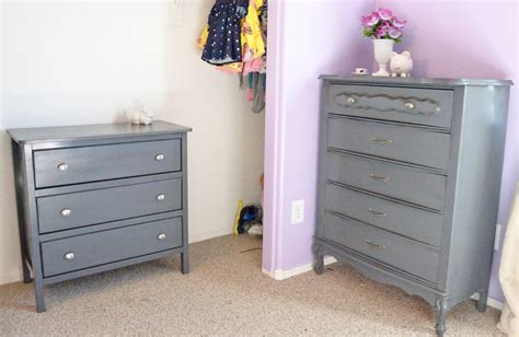 spray paint bedroom furniture sew over it pretty in grey dresser makeovers