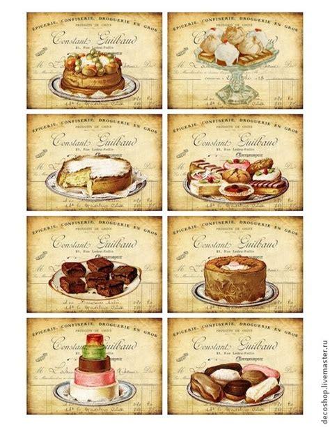 printable dessert labels 8 dessert cake puff receipt vintage 155 lb scrapbook