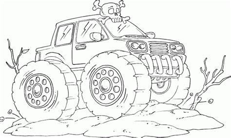 gallery  monster trucks grave digger coloring page
