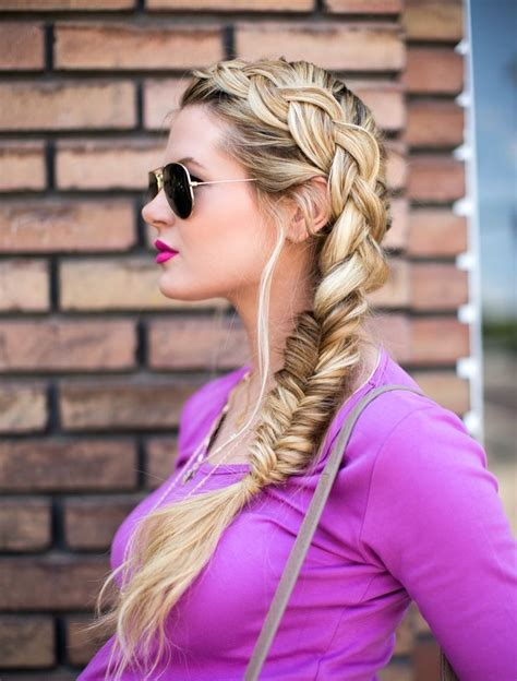 fishtail braid on the side fishtail summer side easy hairstyles you need to master glam radar