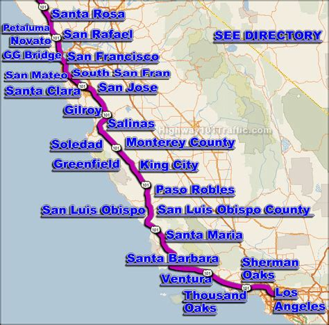 california map highway 101 highway 101 traffic conditions