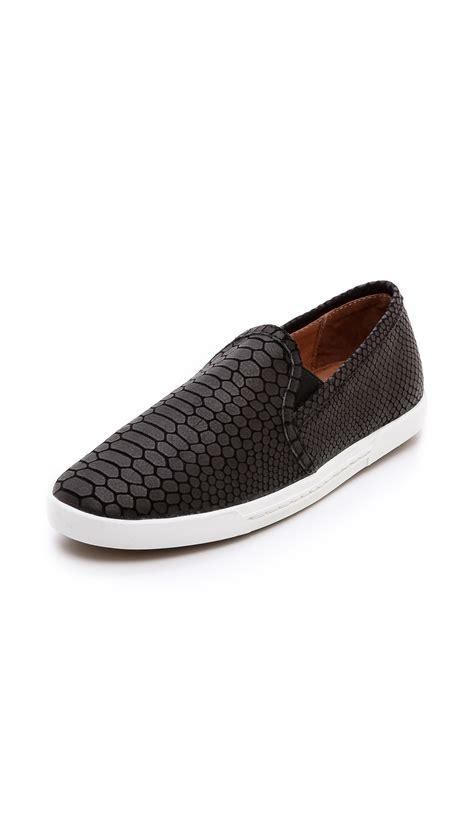 joie sneakers joie kidmore slip on sneakers black in black lyst