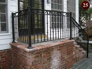 Metal Porch Pickets Exterior Residential Iron Railings Custom Aluminum