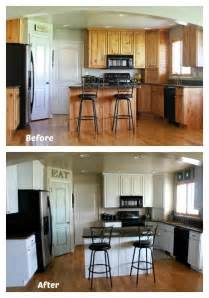 Before And After Kitchen Cabinet Painting 365 Days Of Cooking White Painted Kitchen Cabinet Reveal With Before And After Photos And