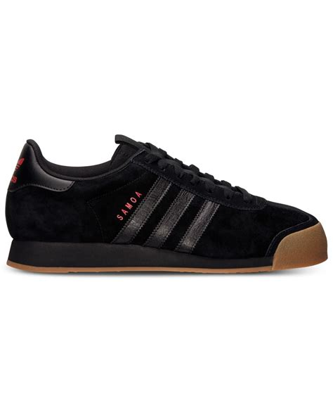 mens black sneakers lyst adidas s samoa casual sneakers from finish line