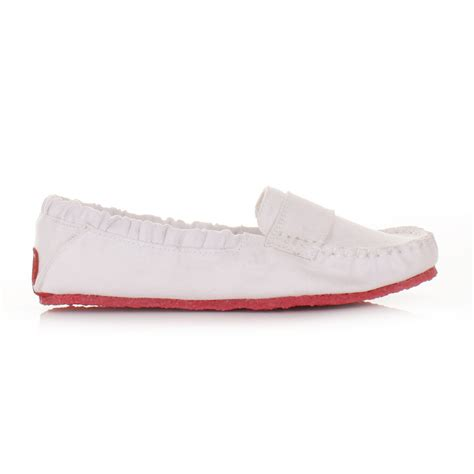 canvas flats shoes womens mocks saddle white canvas slip on loafers